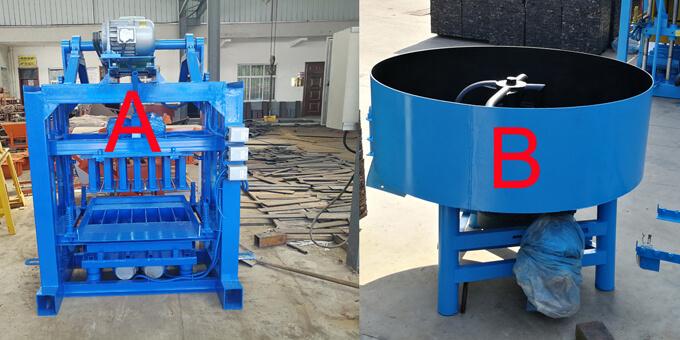 Qt40 2 Manual Concrete Vibrated Block Moulding Machine